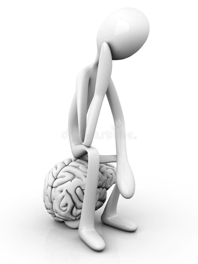 Penseur illustration de vecteur
