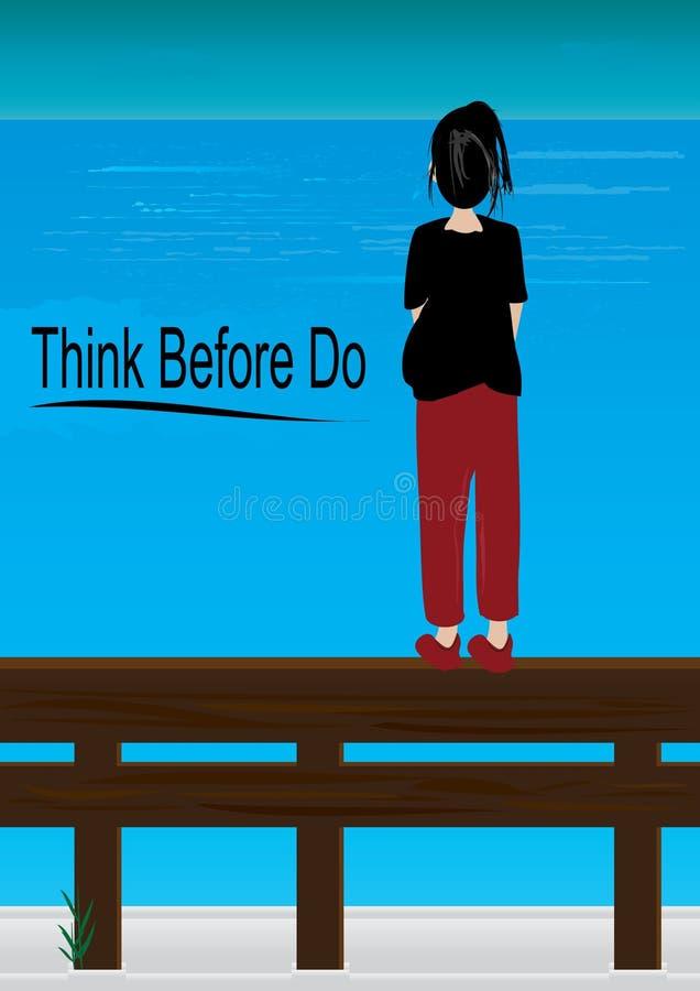 Pensez avant Do_eps illustration stock