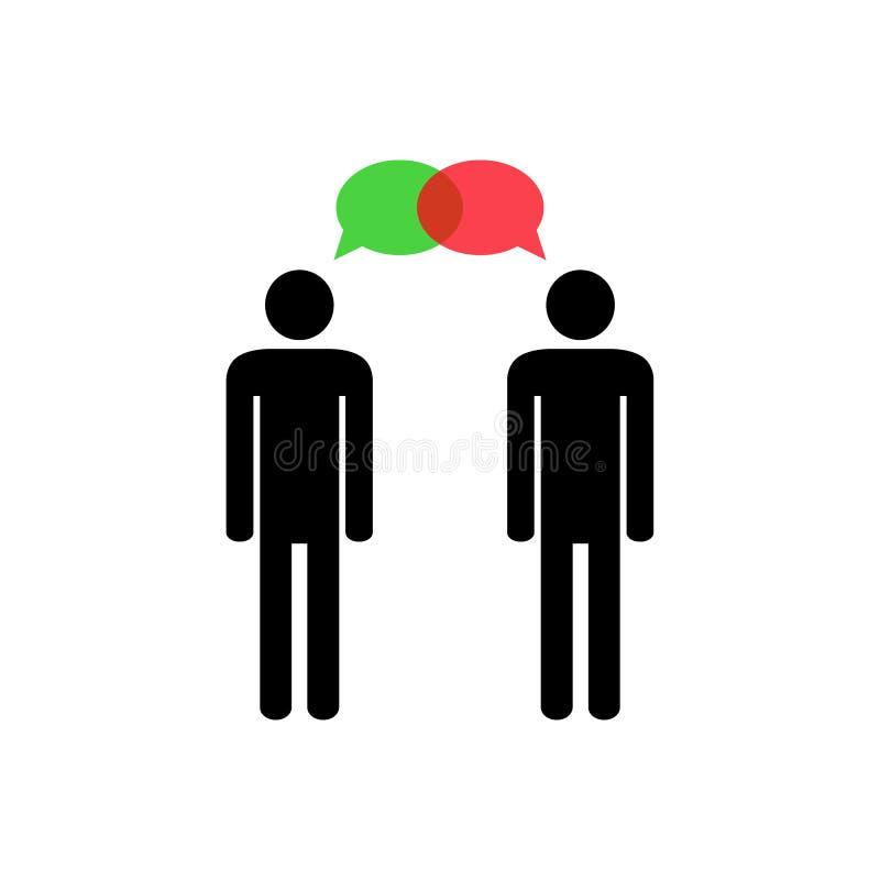 Pensez différemment Dialogue constructif illustration stock