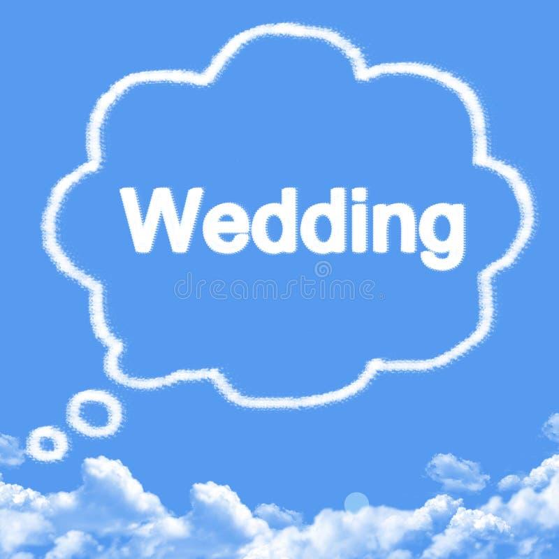 Pensez en épousant la forme de nuage image libre de droits