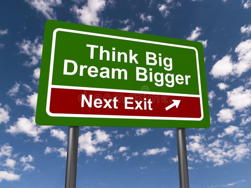 Pensez grand et rêveur plus grand illustration libre de droits