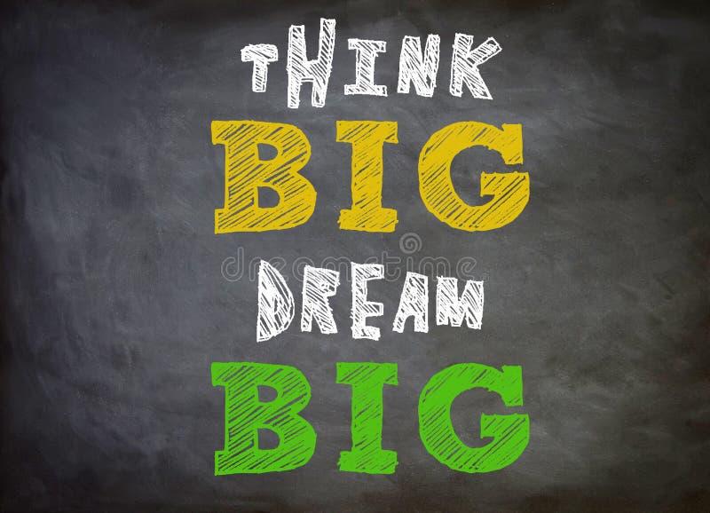 Pensez grand - grand rêveur illustration libre de droits