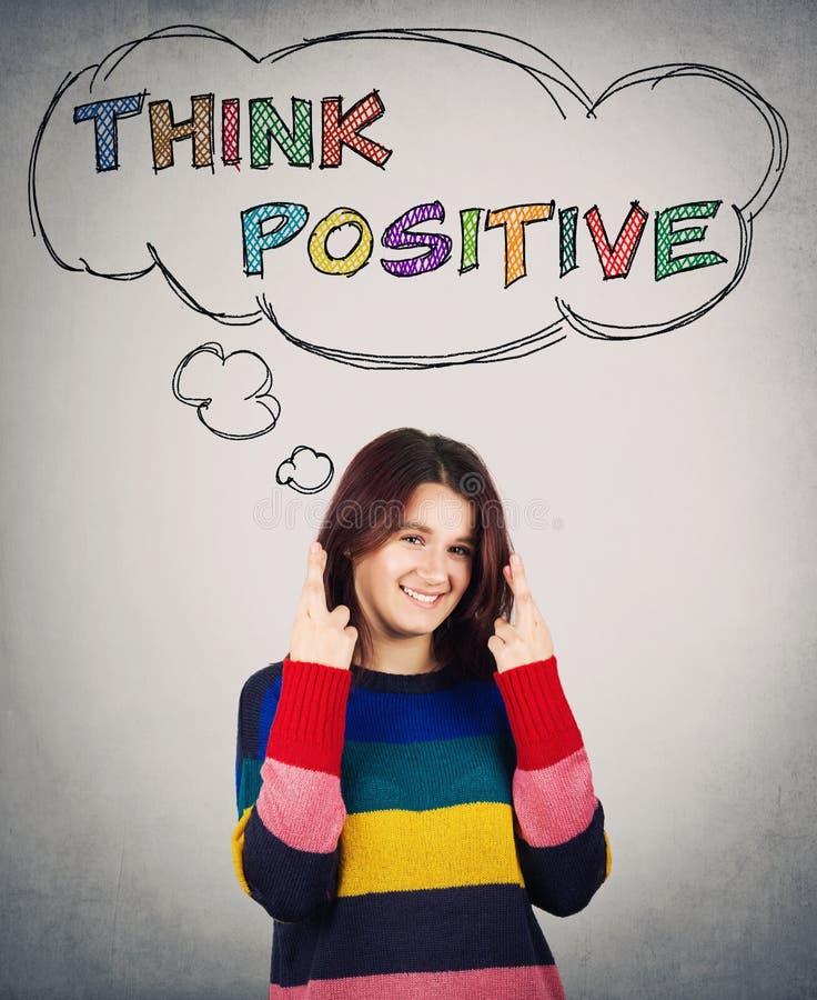 Pensez le positif images stock