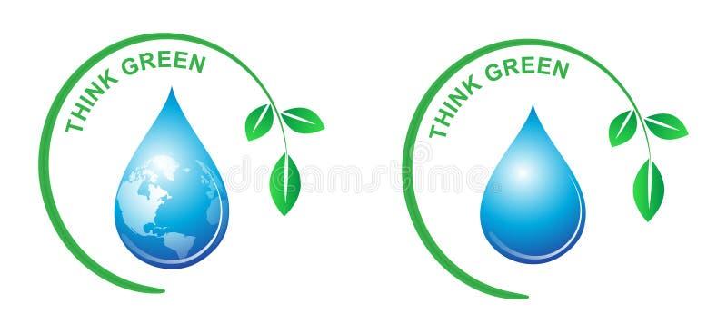 Pensez le vert illustration libre de droits