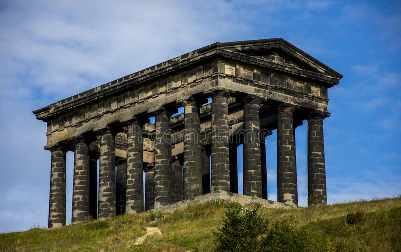 Penshaw Monument in Sunderland, UK royalty free stock images