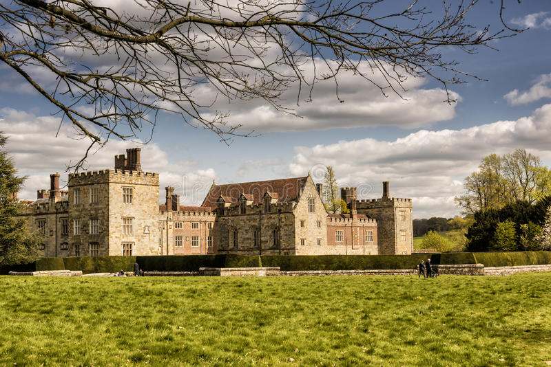 Penshurst Place, Manor House at Kent, Uk. View of Manor House, an old building in the area of Kent stock photo
