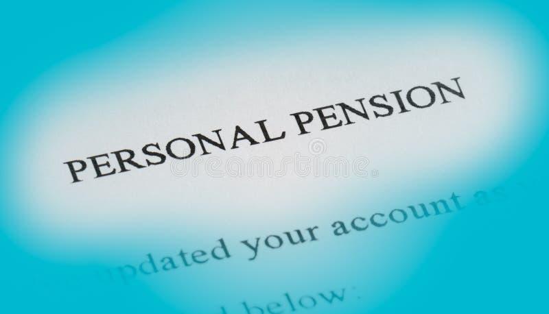 Pensión personal fotos de archivo libres de regalías