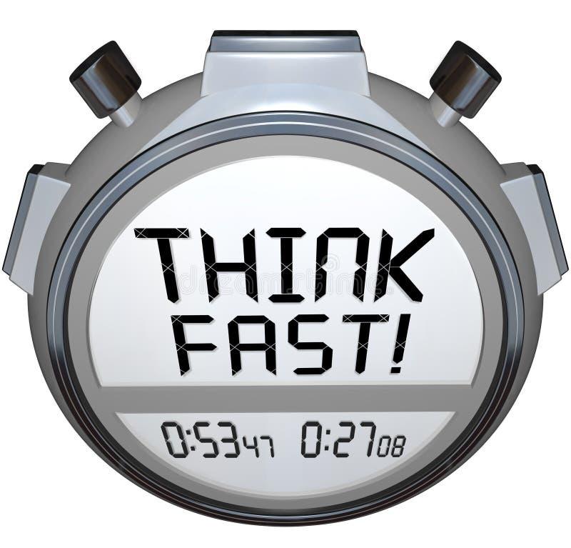 Pensi il concorso veloce di risposta di quiz del cronometro del temporizzatore illustrazione di stock