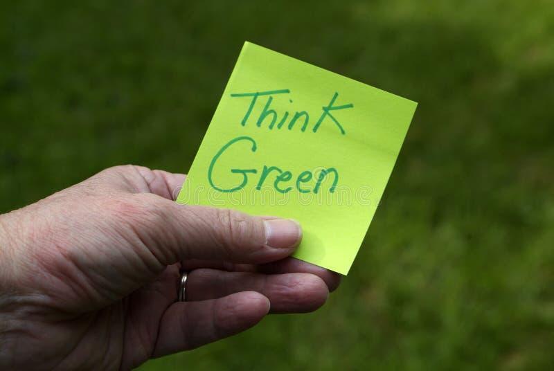 Pensi il verde immagini stock