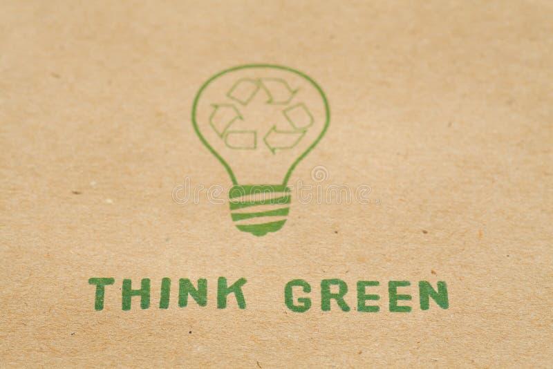 Pensi il verde fotografia stock
