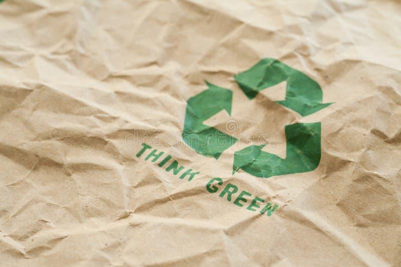 Pensi il verde immagine stock