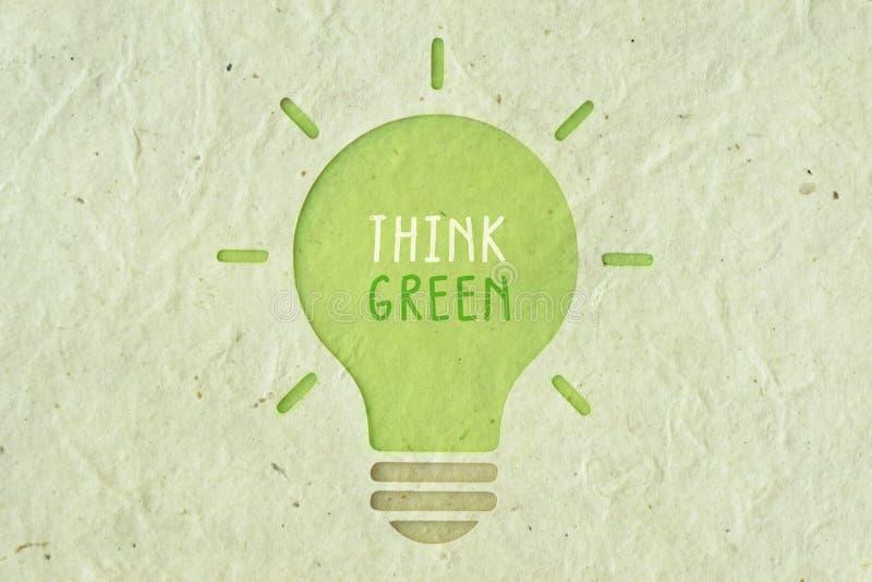 Pensi il verde - concetto dell'ecologia royalty illustrazione gratis