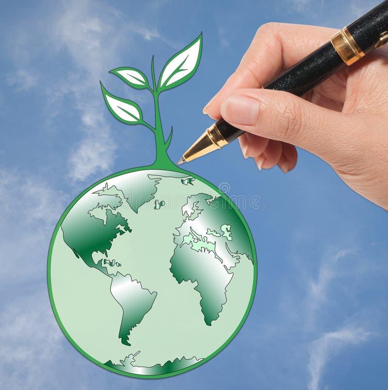 Pensi per salvare il mondo: Giorno di terra illustrazione vettoriale