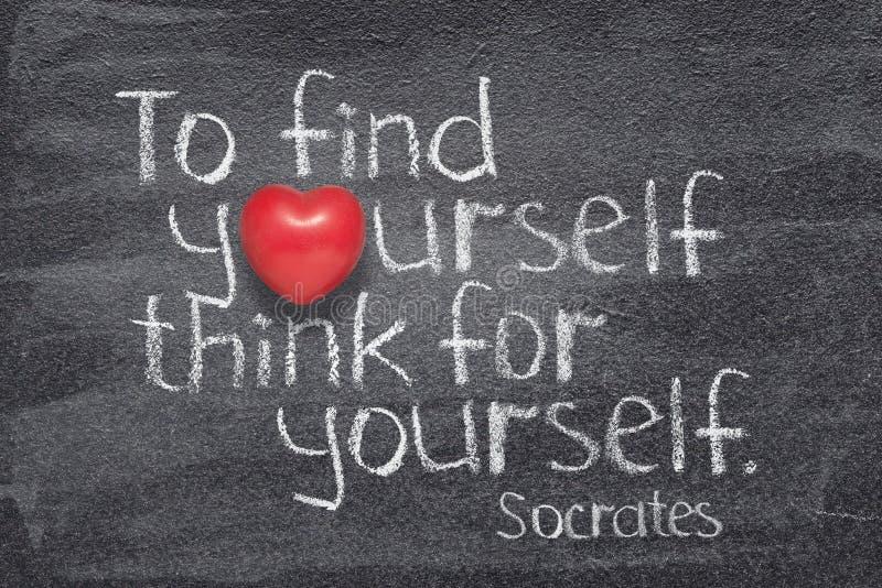 Pensi per voi stesso Socrates immagine stock