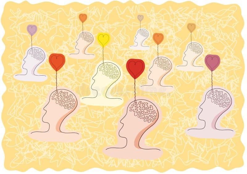 Pensieri di amore illustrazione di stock