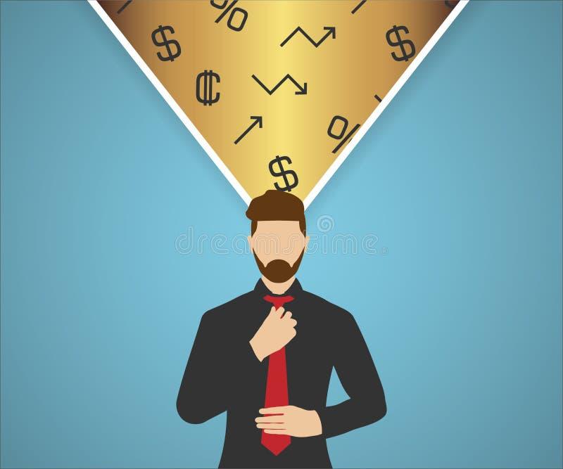 Pensieri di finanza illustrazione vettoriale
