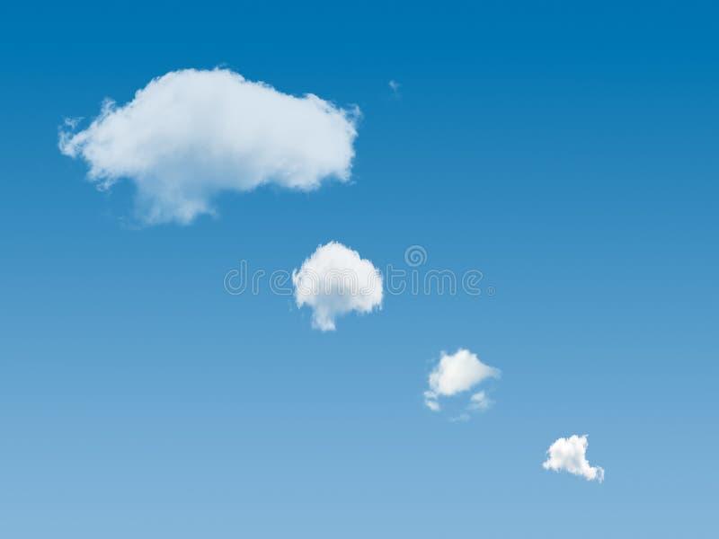 Pensiero del cielo blu immagine stock