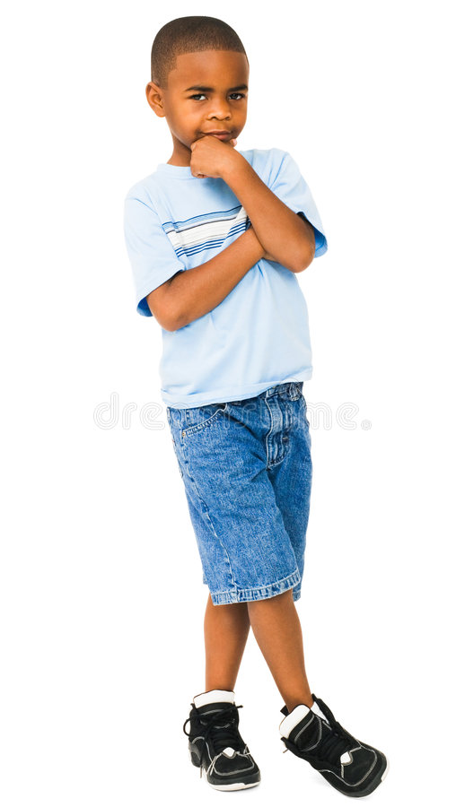 Pensiero del ragazzo del African-American fotografie stock
