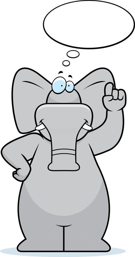 Pensiero dell'elefante illustrazione di stock