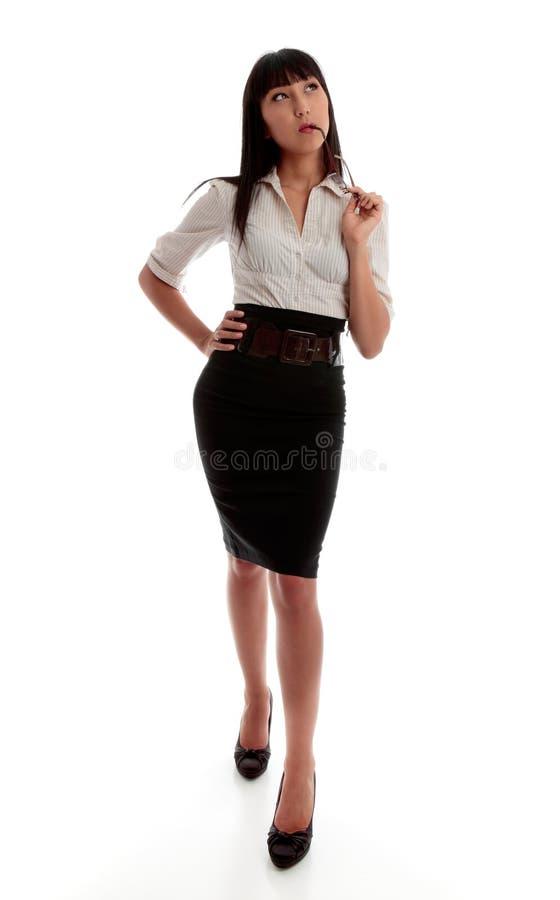 Pensiero della donna di affari immagine stock libera da diritti