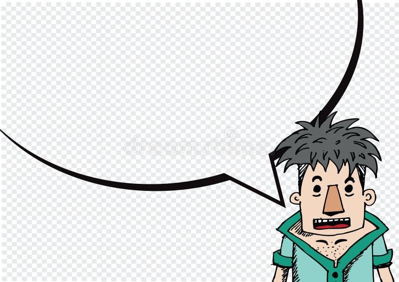 Pensiero e la gente della gente che parlano con i fumetti di dialogo illustrazione vettoriale