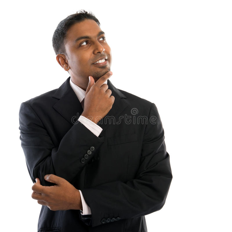 Pensiero indiano dell'uomo. fotografie stock