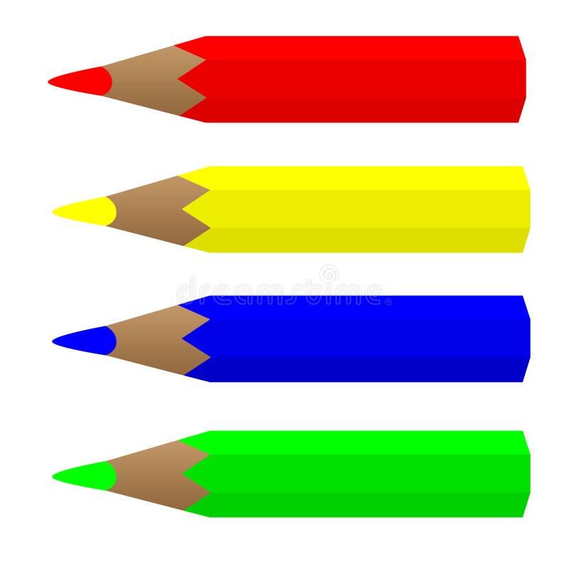 pensils stock illustrationer