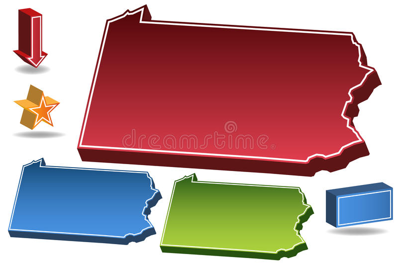 Pensilvânia 3D ilustração stock