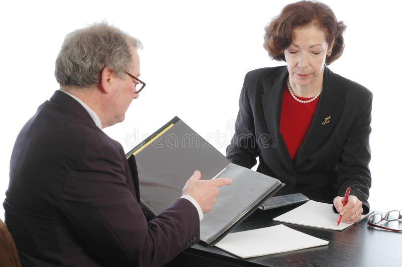 pensionär för möte för ledare för affär 749 arkivbilder