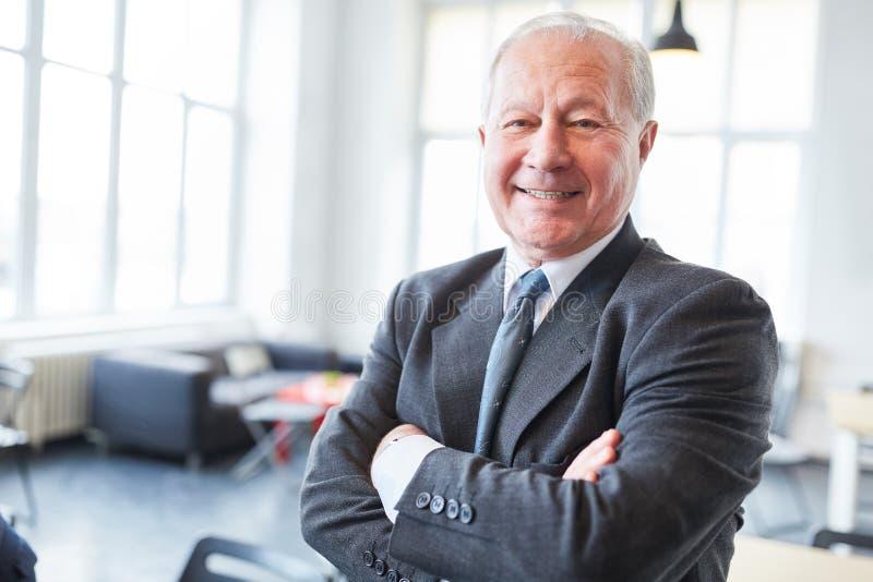 Pensionär som lyckad entreprenör arkivfoton