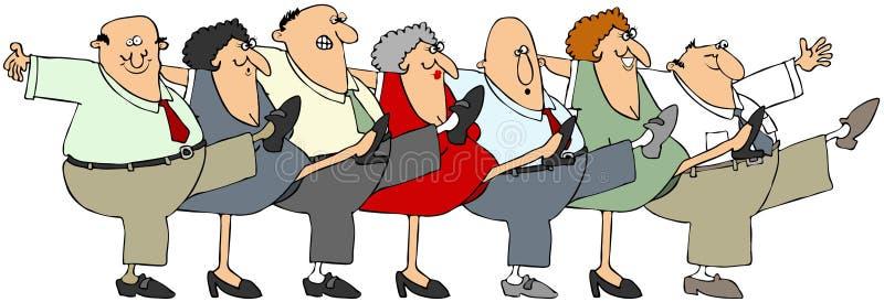 Pensionären kunna-kan royaltyfri illustrationer