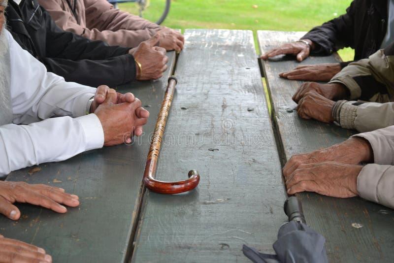 Pensionärer: vår guld- min royaltyfri bild