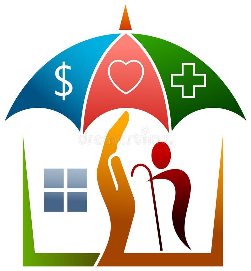 Pensionäromsorg stock illustrationer