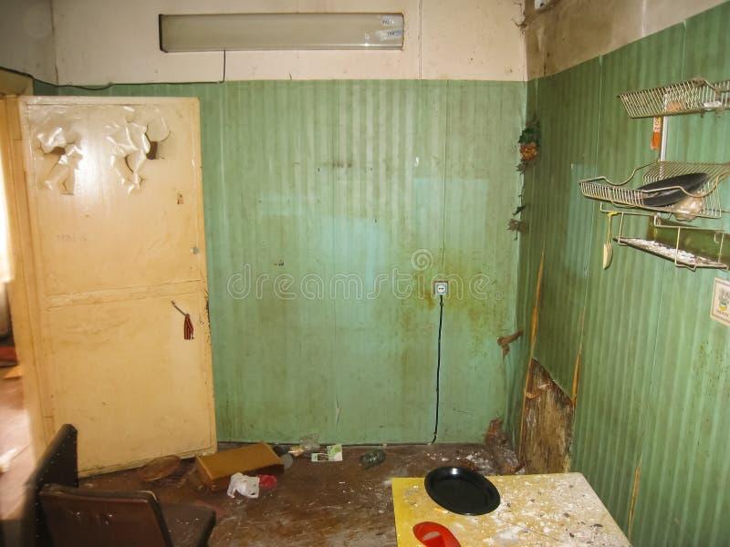 Pension abandonnée dans Khamovniki, un vieux bâtiment historique abandonné photos libres de droits