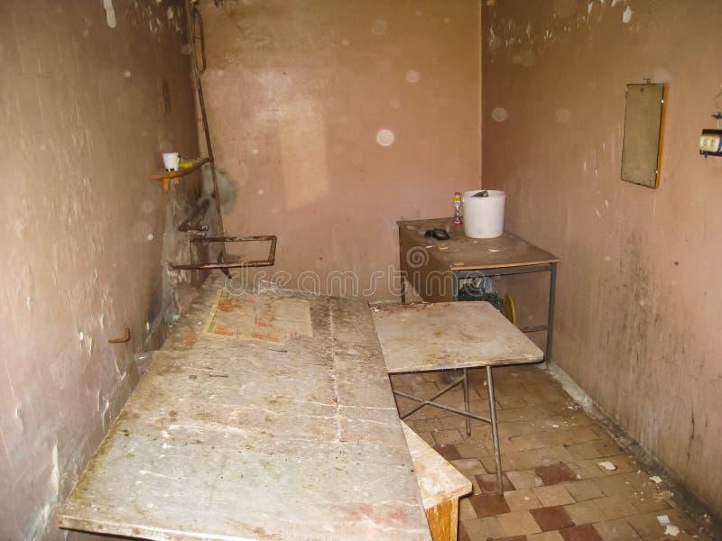 Pension abandonnée dans Khamovniki, un vieux bâtiment historique abandonné photo stock