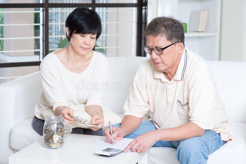 Pension, retiree, saving concept stock image