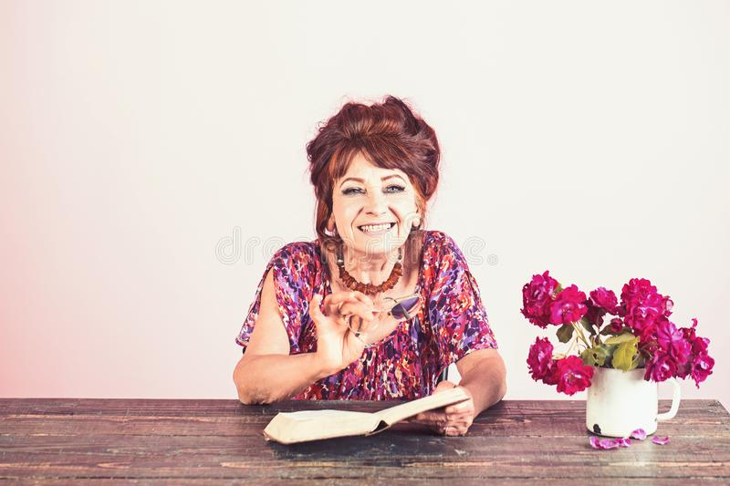 Pension and retirement, old age. stock images