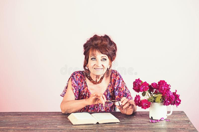Pension and retirement, old age. stock photo