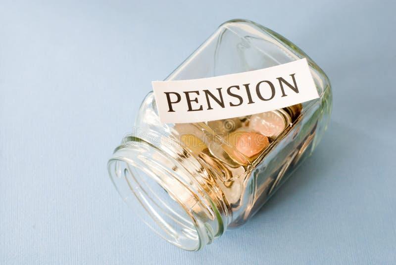 Pension savings stock photography