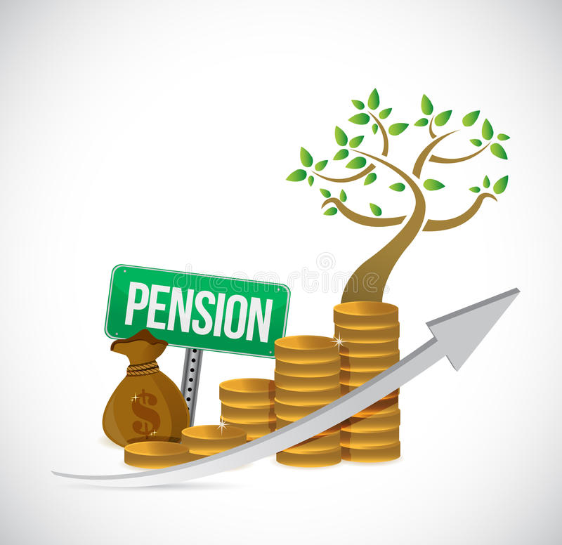 Free Pension Sign Coin Tree Graph Illustration Design Stock Photo - 63531670