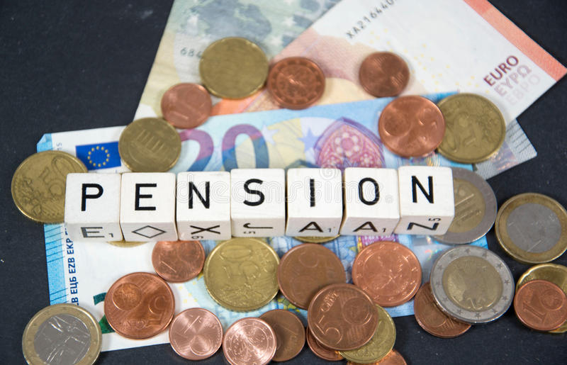 Pension. A symbol photo for pension royalty free stock photography
