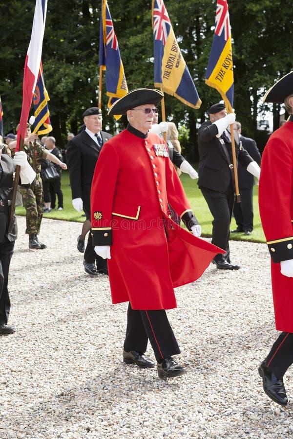 Pensionato in marcia di Chelsea al memoriale di Thiepval fotografia stock