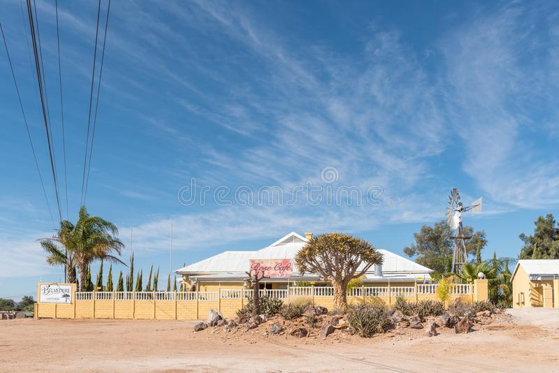 Pensione e Rose Cafe di belvedere in Kakamas immagine stock libera da diritti