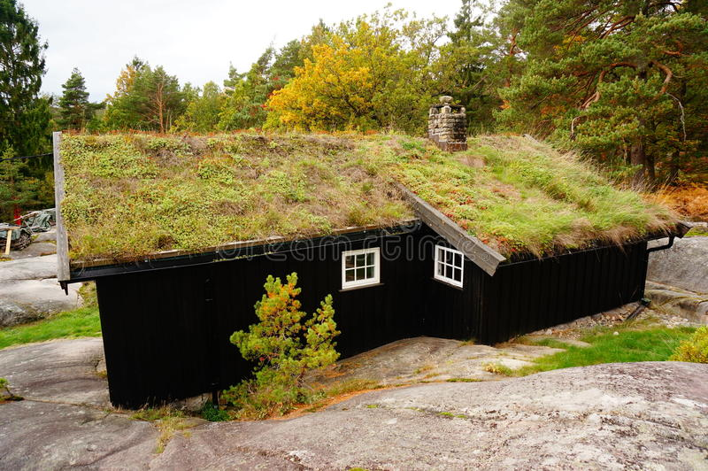 Pensione norvegese, Norvegia fotografia stock libera da diritti