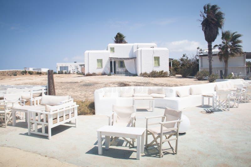 Pensione tipica su Antiparos, Grecia immagini stock libere da diritti