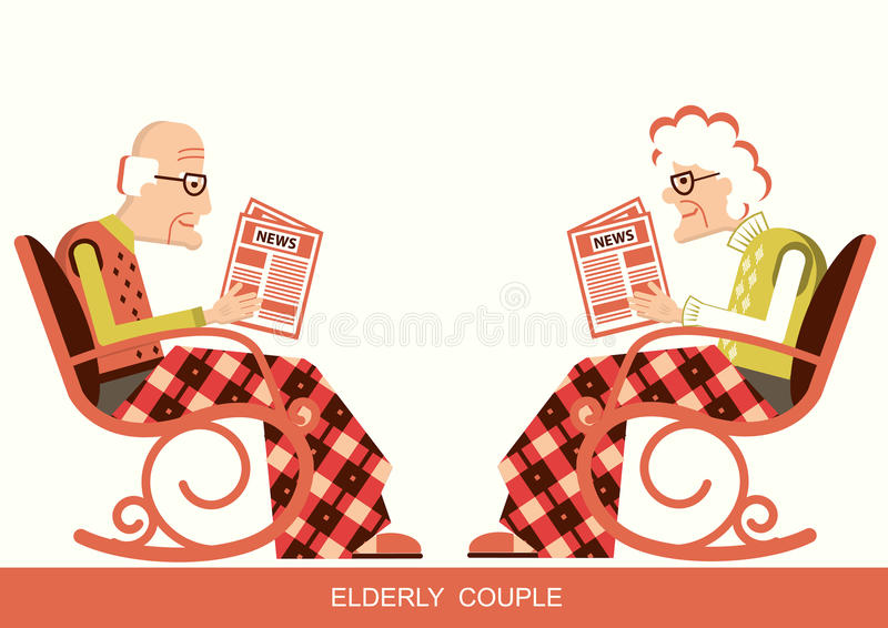 Elderly People With Walkers Stock Vector Illustration Of
