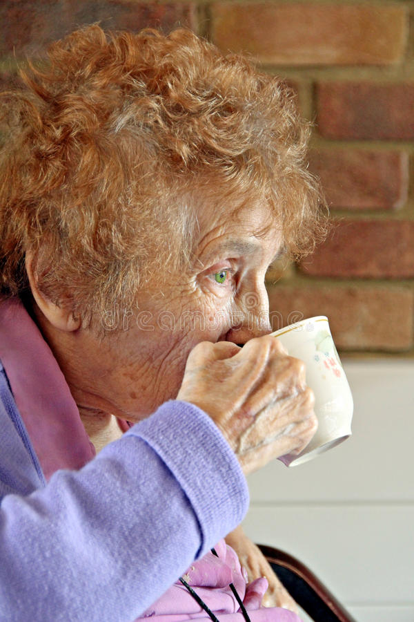 Download Pensioner teatime stock photo. Image of alone, coffee - 25367566