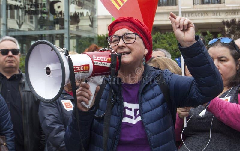pensionerad protest royaltyfria bilder
