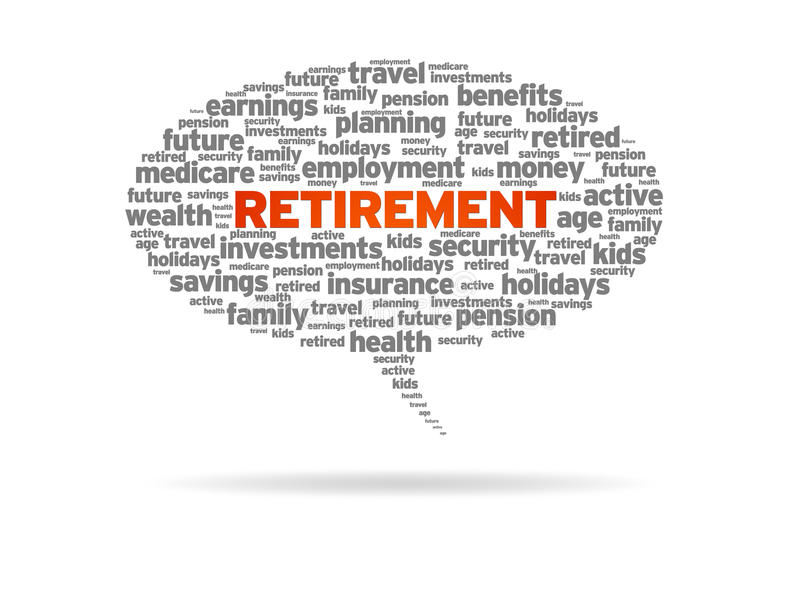 Pensionering royalty-vrije illustratie