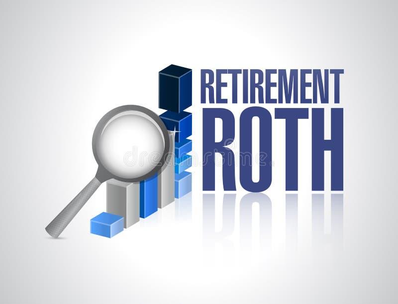 pensionerings roth zaken onder overzicht royalty-vrije illustratie